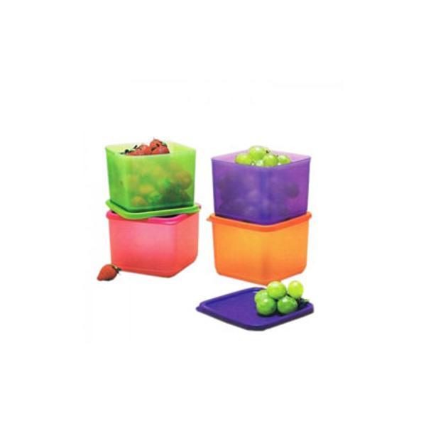 Mentimun - Medium Summer Fresh (4) (Tupperware) - Orange, Ungu, Hijau & Pink - Rincian Produk